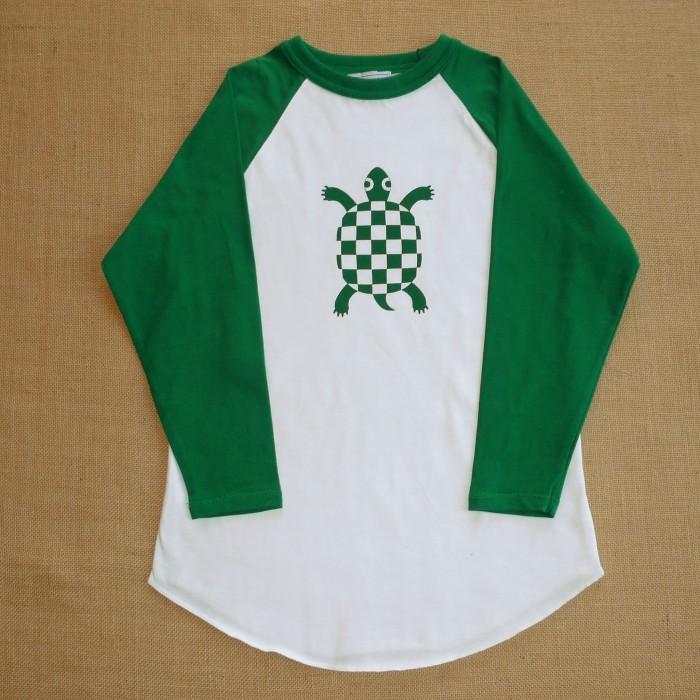 Camiseta Beisbol Tortuga Verde