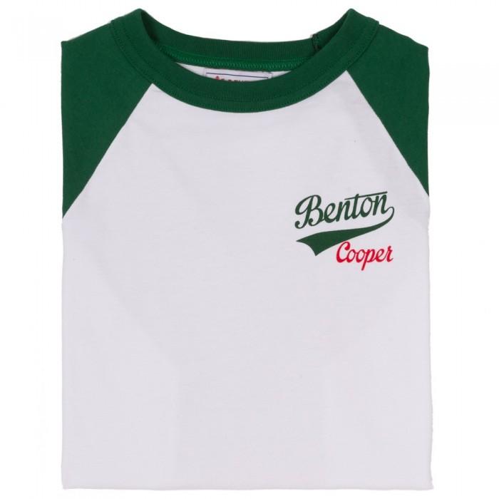 Camiseta Beisbol Verde Logo Retro