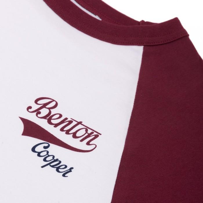 Camiseta Beisbol Maroon Logo Retro