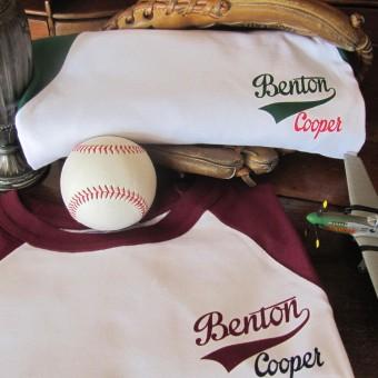 Camiseta beisbol Logo retro