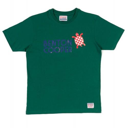 Camiseta tortuga nadando verde racing Benton Cooper