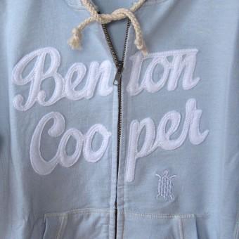 hoodie logo tortuga Benton Cooper, sudadera con capucha con cremallera ,