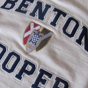 hoodie escudo vintage Benton Cooper sudadera con capucha sin cremallera, escudo Vintage