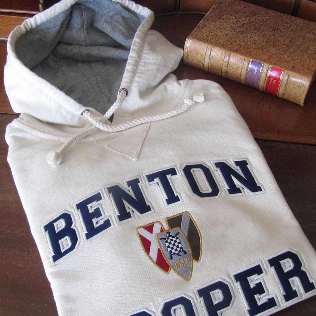 hoodie escudo vintage Benton Cooper sudadera con capucha sin cremallera