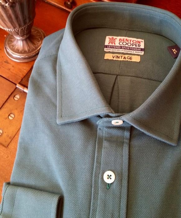 "Camisa de punto Benton Cooper cuello ""semi-italiano"""