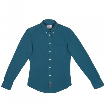 "Camisa piqué delantera ""Button Down"""