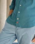 camisa piqué detalle boraddo