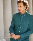 camisa piqué petróleo Benton Cooper